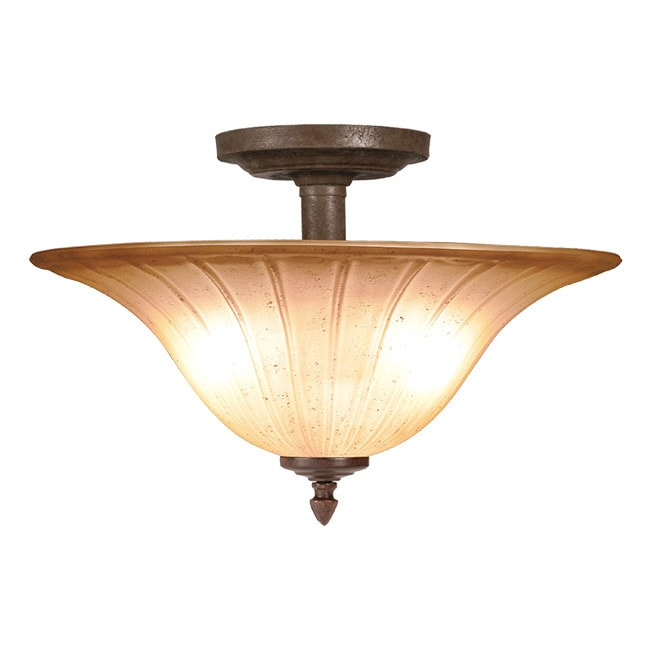 Woodbridge Lighting Broadmore 2-light Bordeaux Semi-flush Mount