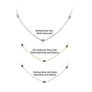 DB Designs Sterling Silver 1/10ct TDW Diamond Necklace (I-J, I2-I3)