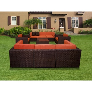 Atlantic Messina Orange 9-piece Sectional Set