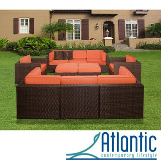Milano Orange 10-piece Sectional Set