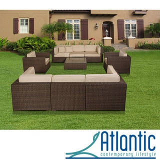 Messina Deluxe 9-piece Sectional Set with Sunbrella