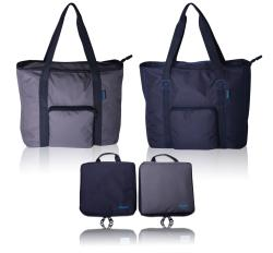 Doumi 17-inch Durable Lightweight Ripstop Foldable Shopper Tote