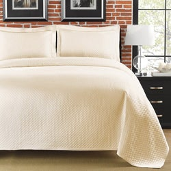 Diamante Matelasse Ivory King-size Coverlet