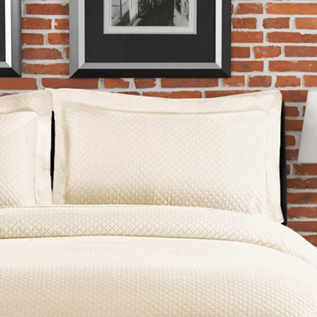 Diamante Matelasse Ivory Standard-size Sham at Sears.com