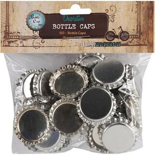 Vintage Collection 50-piece Chrome Bottle Caps