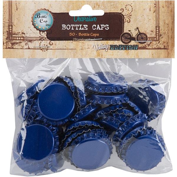 Vintage Collection 50-piece Blue Bottle Caps