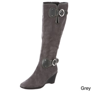 Aerosoles Women's 'Wonderling' Brown High Wedge Boots