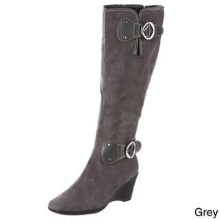 Aerosoles Women's 'Wonderling' Brown High Wedge Boots