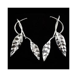 Sterling Silver 'Dancing Leaves' Earrings (Peru)