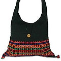Cotton 'Vibrant Tease' Shoulder Bag (India)