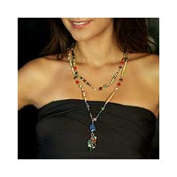 'Recycling Rainbows' Multi-gemstone Necklace (Brazil)