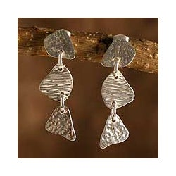 Sterling Silver 'Freeform' Dangle Earrings (Peru)