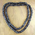 Iolite 'Blue Shadows' Long Beaded Necklace (India)