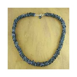 Iolite 'Blue Shadows' Beaded Necklace (India)