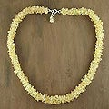 'Lemon Sugar' Citrine Beaded Necklace (India)