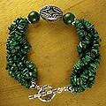 Sterling Silver 'Natural Sophistication' Malachite Bracelet (India)