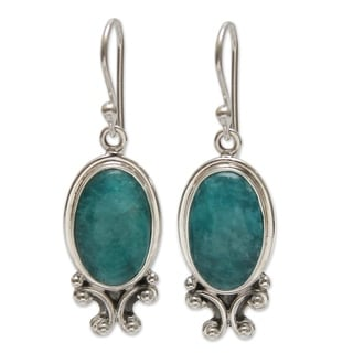Sterling Silver 'Andes Mystique' Amazonite Earrings (Peru)