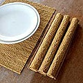 Set of 4 Cotton 'Earthly Nature' Placemats (Indonesia)