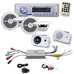 In-dash Marine System 4 Channel MP3/ iPod Amplifier
