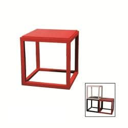 Stackable Red Cubic Table