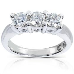 Annello Platinum 1ct TDW Diamond Engagement Ring (G-H, SI1-SI2)
