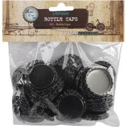 Vintage Collection 50-piece Standard Black Bottle Caps