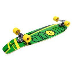 Atom 36-inch Surf Longboard with Laminate Deck and Front Truck System