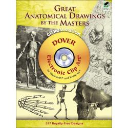 Dover Publications 'Great Anatomical Drawings By The Masters' Cd Rom Books