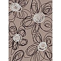 Brilliance Flower Contemporary Area Rug (3'3 x 4'11)