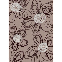 Brilliance Flower Purple Area Rug (5'5 x 7'7)