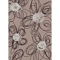 Brilliance Flower Purple Area Rug (7'9 x 11')