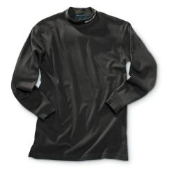 Beretta Black Long Sleeve Mock Turtleneck
