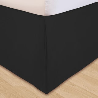 Grand Luxe 'Hike Up Your Skirt' Microfiber Adjustable 17-inch Drop California King-size Bedskirt