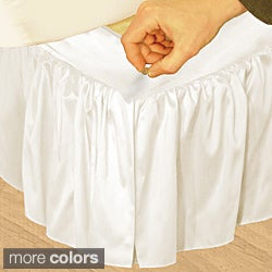 Grand Luxe 'Hike Up Your Skirt' Ruffled Faux Silk Adjustable 17-inch Drop King-size Bedskirt