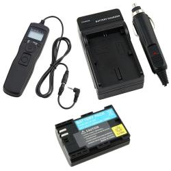 Timer Remote Cord/ Battery/ Charger for Canon EOS 5D/ 60D