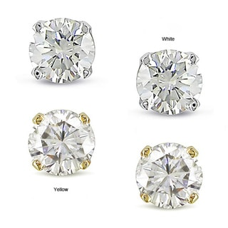 Miadora 14k Gold 1/2ct TDW Diamond Solitaire Earrings (J-K, I2-I3)