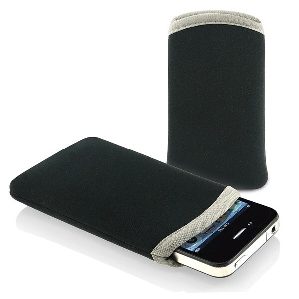 INSTEN Black Soft Pouch iPod Case Cover for Apple iPhone/ iPod Touch