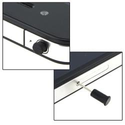 Black Headset Dust Cap with Eject Pin for Apple iPhone/ iPod