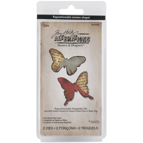Sizzix Movers and Shapers Butterflies Magnetic Die Set (Pack of 2)