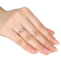 Miadora 10k White Gold 1/5ct TDW Diamond Ring (G-H, I2-I3)