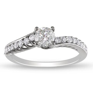 Miadora 14k White Gold 3/4ct TDW Diamond  Ring (G-H, I1-I2)