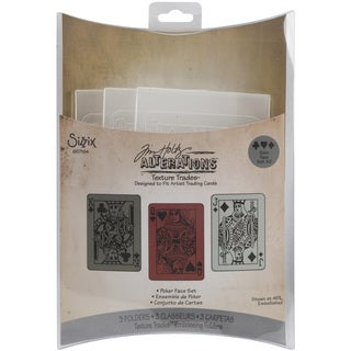 Sizzix Poker Face Texture Trades Embossing Folders (Pack of 3)