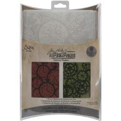 Sizzix Clock & Steampunk Texture Fades Embossing Folders (Pack of 2)