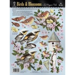 Hot off the Press 'Birds and Blossoms' 3-D Paper Foil Die Cuts