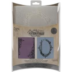 Sizzix Texture Fades Embossing Fancy and Floral Frames Folders (Pack of 2)