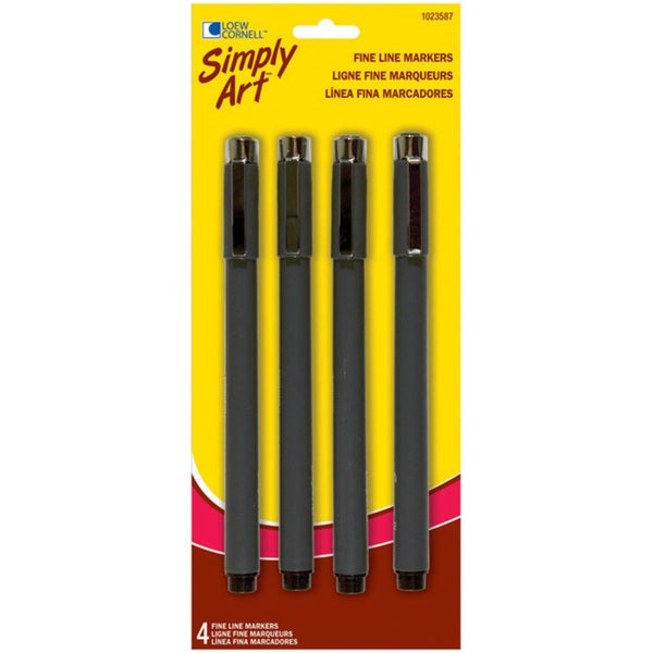 Loew-Cornell Simply Art Fine Line Markers (Pack of 4)