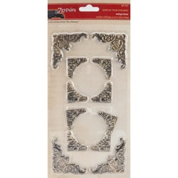 7 Gypsies Antique Brass Display Trim Corners (Pack of 12)