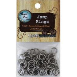 Vintage Collection Silver Jump Rings 8mm (Pack of 100)