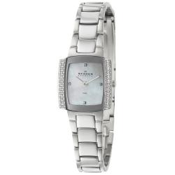 Skagen Women's 'Glitz' Stainless Steel Crystals Quartz Watch