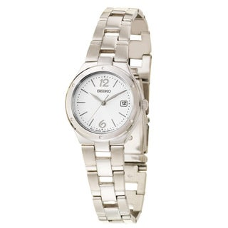Seiko Women's 'Bracelet' Stainless Steel Quartz Date Watch
